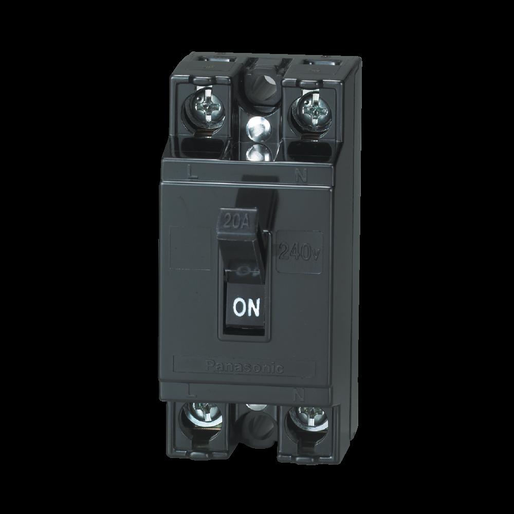 Bộ ngắt mạch an toàn 2P 20A BS1112TV Panasonic BS1112TV Panasonic | Giá rẻ nhất - Công Ty TNHH Thương Mại Dịch Vụ Đạt Tâm