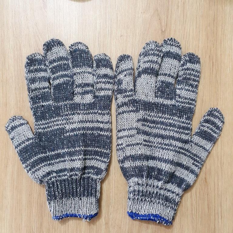 Găng tay bảo hộ bằng len màu muối tiêu 40g