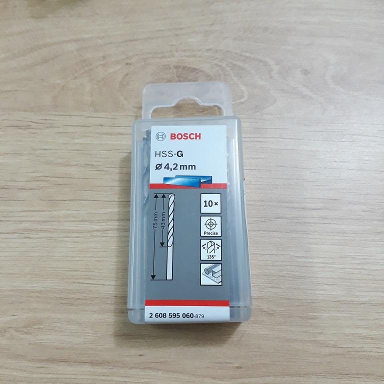 Mũi khoan sắt HSS-G Bocsh 4.2mm 2608595060 2608595060 Bosch   Giá rẻ nhất - Công Ty TNHH Thương Mại Dịch Vụ Đạt Tâm