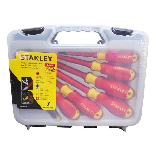 Bộ tua vít cách điện VDE 7 cây Stanley STMT60175 STMT60175 Stanley | Giá rẻ nhất - Công Ty TNHH Thương Mại Dịch Vụ Đạt Tâm