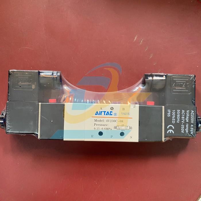 Van điện từ khí nén 5/3 ren 13mm AC220V Airtac 4V 230C-08 4V 230C-08 Airtac | Giá rẻ nhất - Công Ty TNHH Thương Mại Dịch Vụ Đạt Tâm