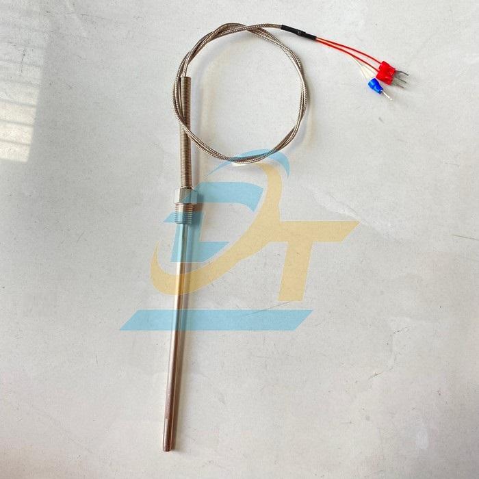Đầu dò nhiệt độ loại K phi 6 dài 150mm, ren M13x1.25, dây 1000mm