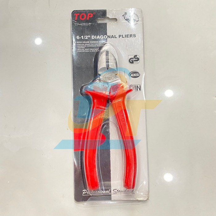 Kìm cắt cán đỏ 6 inch (160mm) TOP TP-4002-6 TP-4002-6 Top | Giá rẻ nhất - Công Ty TNHH Thương Mại Dịch Vụ Đạt Tâm