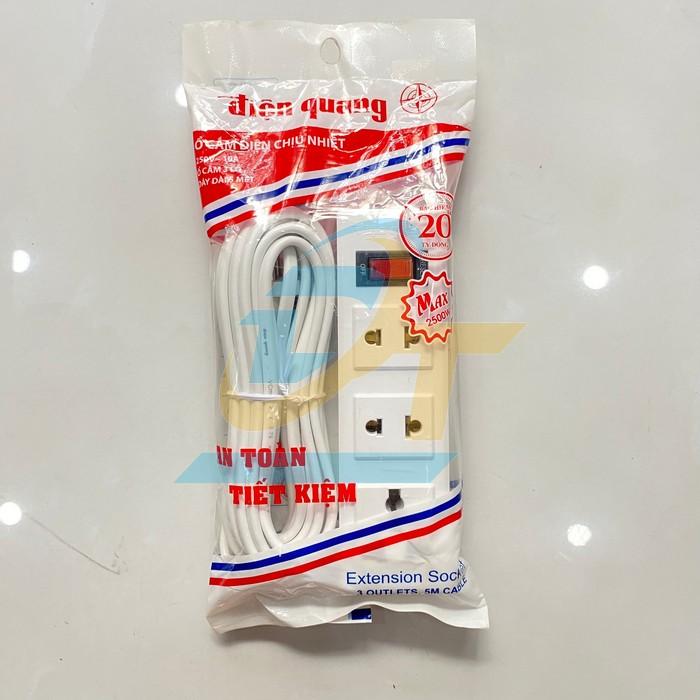 Ổ cắm 3 lỗ dây 5m Điện Quang ĐQ002A-02 ĐQ002A-02 DienQuang | Giá rẻ nhất - Công Ty TNHH Thương Mại Dịch Vụ Đạt Tâm