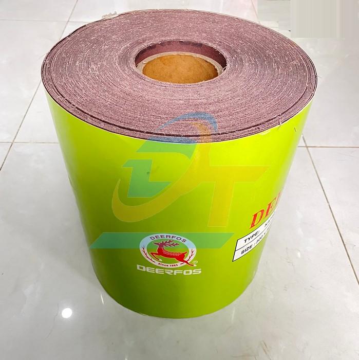 Giấy nhám cuộn loại mềm 50 yard khổ 300mm DEERFOS KA162-P60