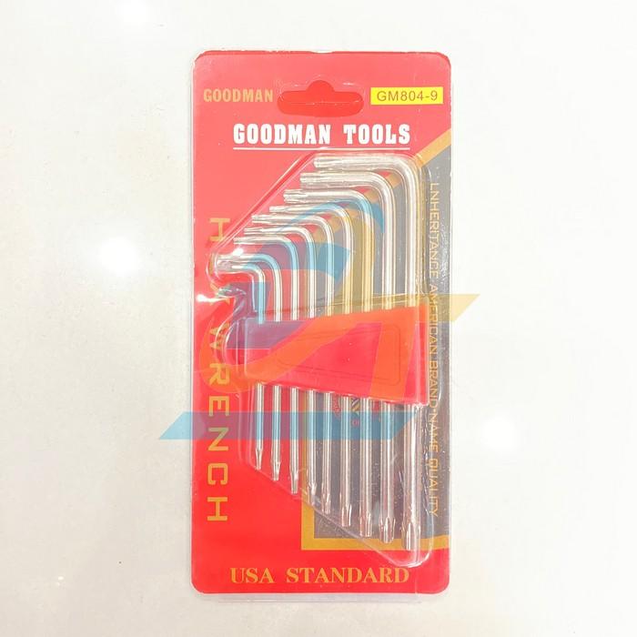Bộ lục giác hoa thị 9 chi tiết Goodman GM804-9