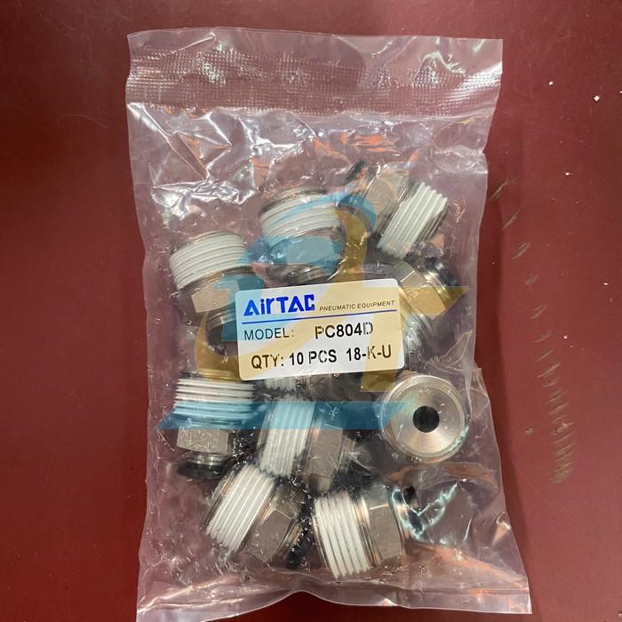 Đầu nối khí nén ren ngoài 21mm ra ống hơi 8mm Airtac PC 8-04 AT PC 8-04 AT Airtac | Giá rẻ nhất - Công Ty TNHH Thương Mại Dịch Vụ Đạt Tâm