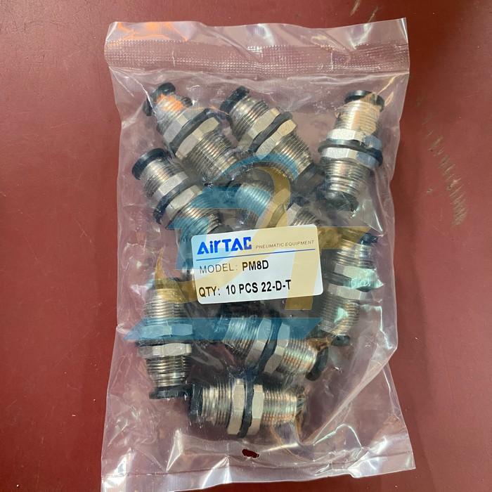 Đầu nối khí nén thẳng 2 đầu phi 8mm Airtac PM8D PM8D Airtac | Giá rẻ nhất - Công Ty TNHH Thương Mại Dịch Vụ Đạt Tâm