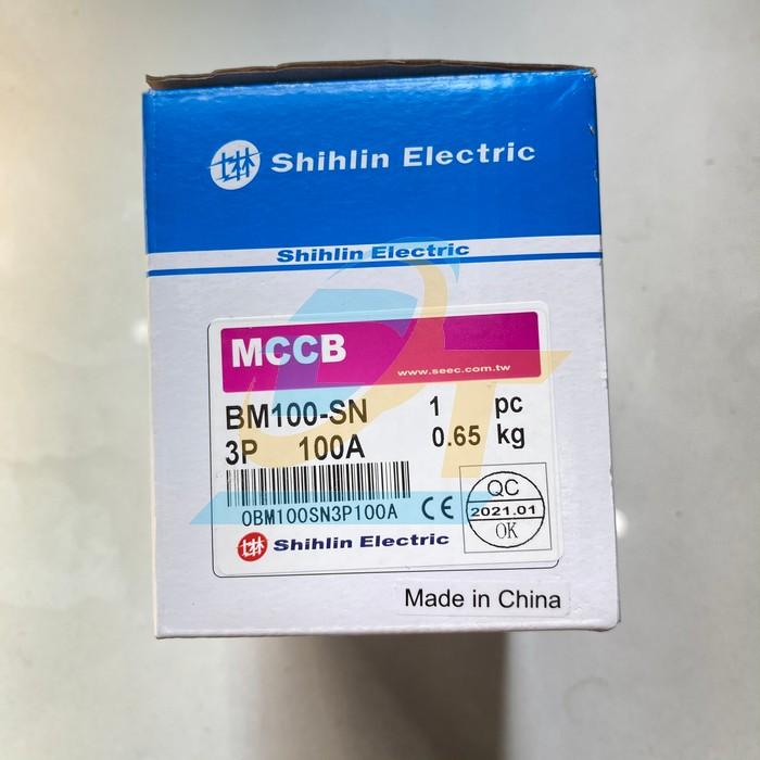 Cầu dao tự động (MCCB) 3P 100A BM-100SN 15KA Shihlin BM100-MN Shihlin   Giá rẻ nhất - Công Ty TNHH Thương Mại Dịch Vụ Đạt Tâm