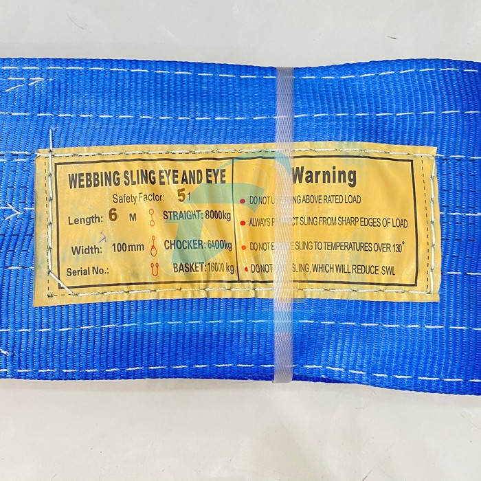Dây cáp vải cẩu hàng 8Tx6m bản 200mm màu xanh China  China | Giá rẻ nhất - Công Ty TNHH Thương Mại Dịch Vụ Đạt Tâm