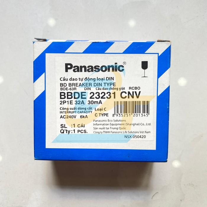 Cầu dao chống giật RCBO 2P 32A 30mA 6kA 240VAC Panasonic BBDE 23231CNV BBDE 23231CNV Panasonic | Giá rẻ nhất - Công Ty TNHH Thương Mại Dịch Vụ Đạt Tâm