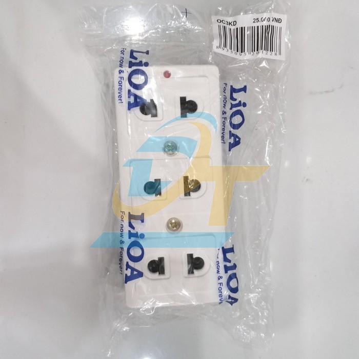 Ổ cắm 3 lỗ 2 chấu Lioa OC3KD OC3KD LiOA | Giá rẻ nhất - Công Ty TNHH Thương Mại Dịch Vụ Đạt Tâm