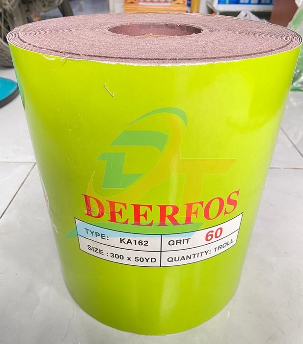 Giấy nhám cuộn loại mềm 50 yard khổ 300mm DEERFOS KA162-P60 KA162-P60 DEERFOS   Giá rẻ nhất - Công Ty TNHH Thương Mại Dịch Vụ Đạt Tâm