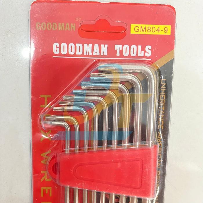 Bộ lục giác hoa thị 9 chi tiết Goodman GM804-9 GM804-9 Goodman   Giá rẻ nhất - Công Ty TNHH Thương Mại Dịch Vụ Đạt Tâm