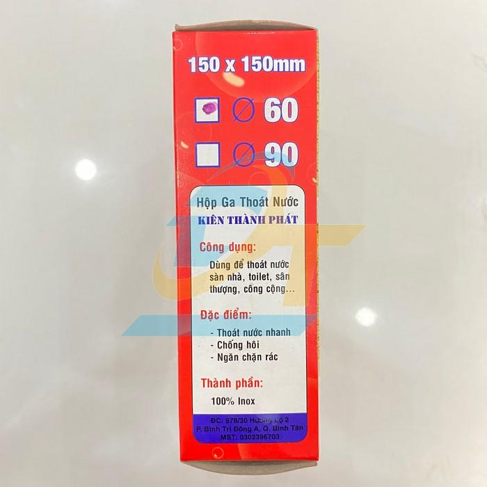 Phễu thoát sàn chống hôi inox 150x150mm phi 60 Kiên Thành Phát  KienThanhPhat | Giá rẻ nhất - Công Ty TNHH Thương Mại Dịch Vụ Đạt Tâm