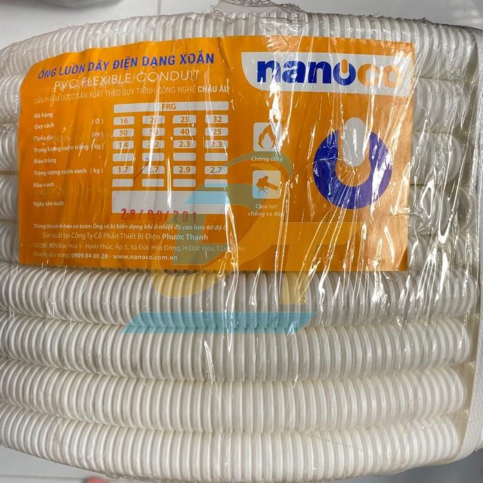 Ống ruột gà phi 20 FRG20W Nanoco  Nanoco   Giá rẻ nhất - Công Ty TNHH Thương Mại Dịch Vụ Đạt Tâm